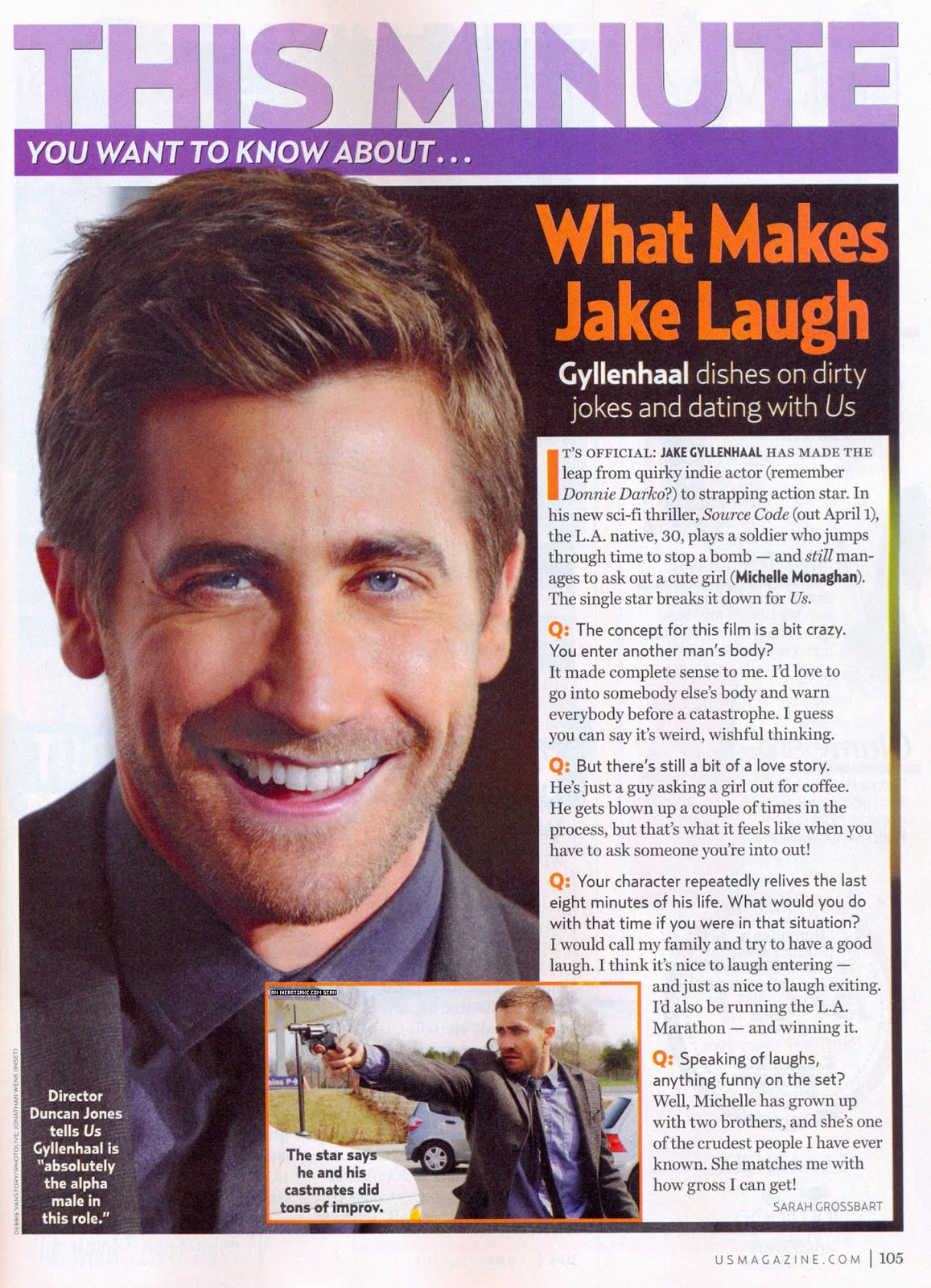weirdland jake gyllenhaal michelle monaghan in us weekly jake gyllenhaal michelle monaghan in us weekly duncan jones interview