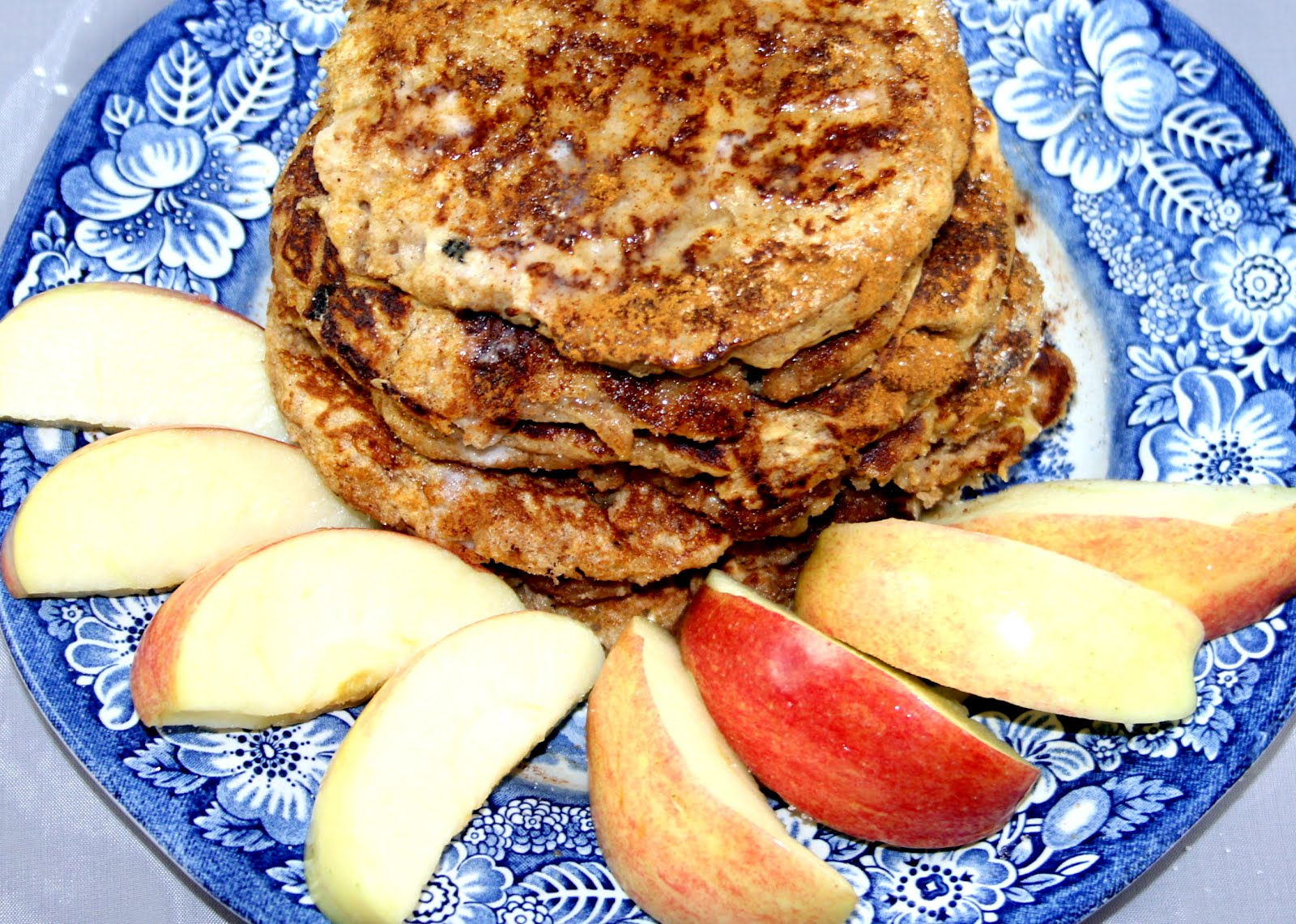 Grain Crazy: Apple Oatmeal Whole Grain Pancakes