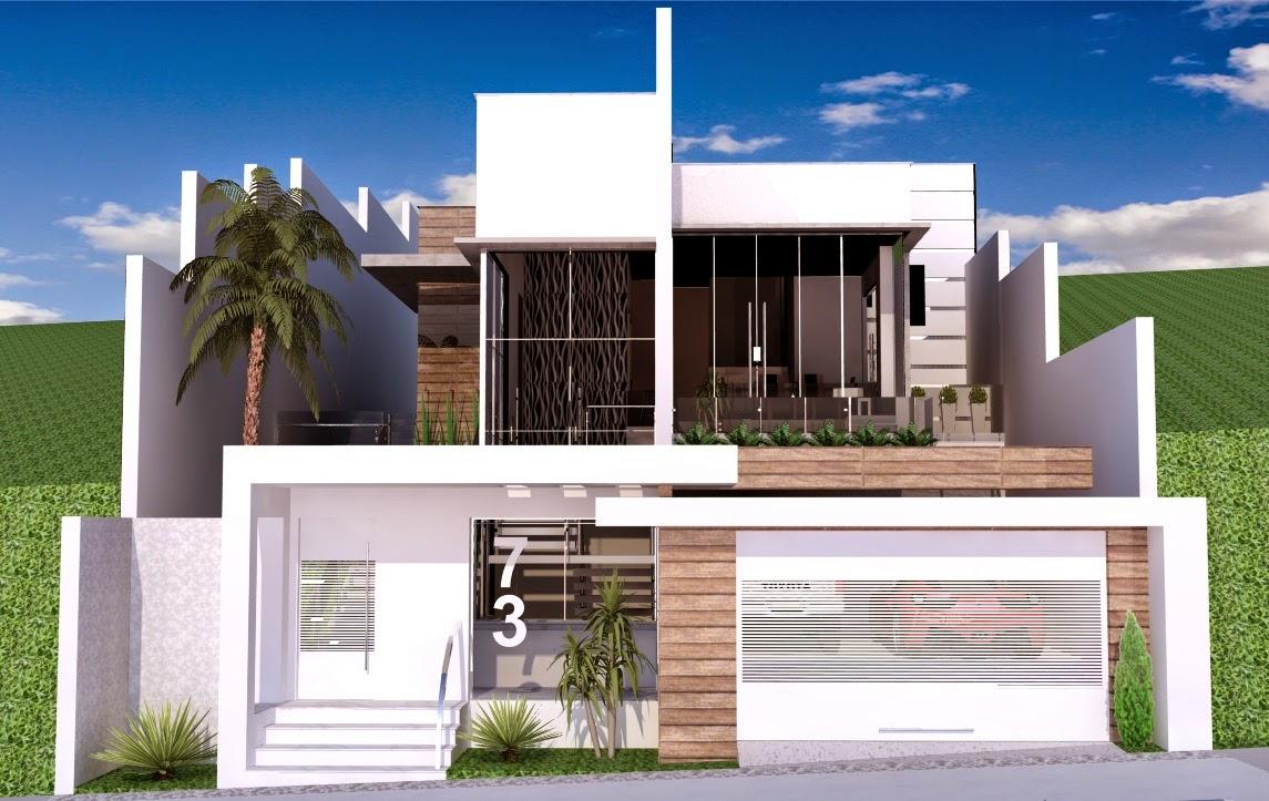20 fachadas de casas modernas com muros e port es for Frentes para casas modernas