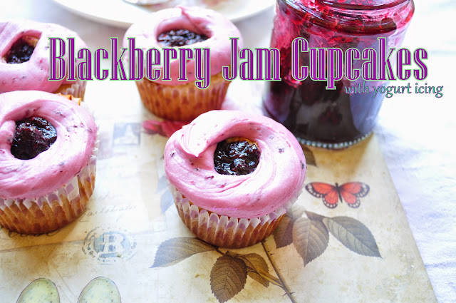 blackberry and chambord cupcakes