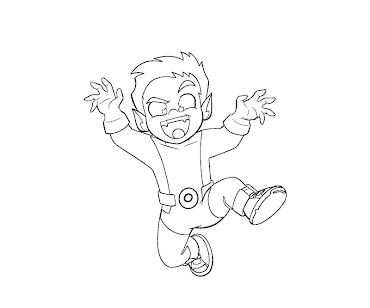 #1 Beast Boy Coloring Page