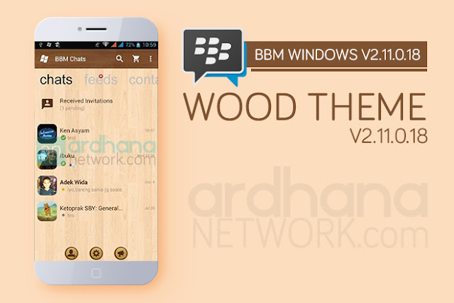 BBM Windows Phone Wood - BBM Android V2.11.0.18