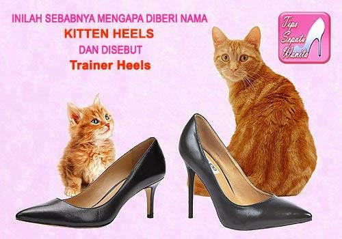 Sepatu Wanita Hak Rendah Kitten Heels