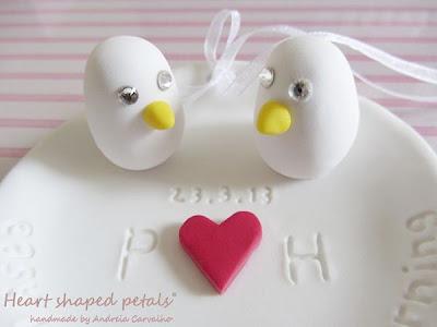 Custom ring bearer with love birds