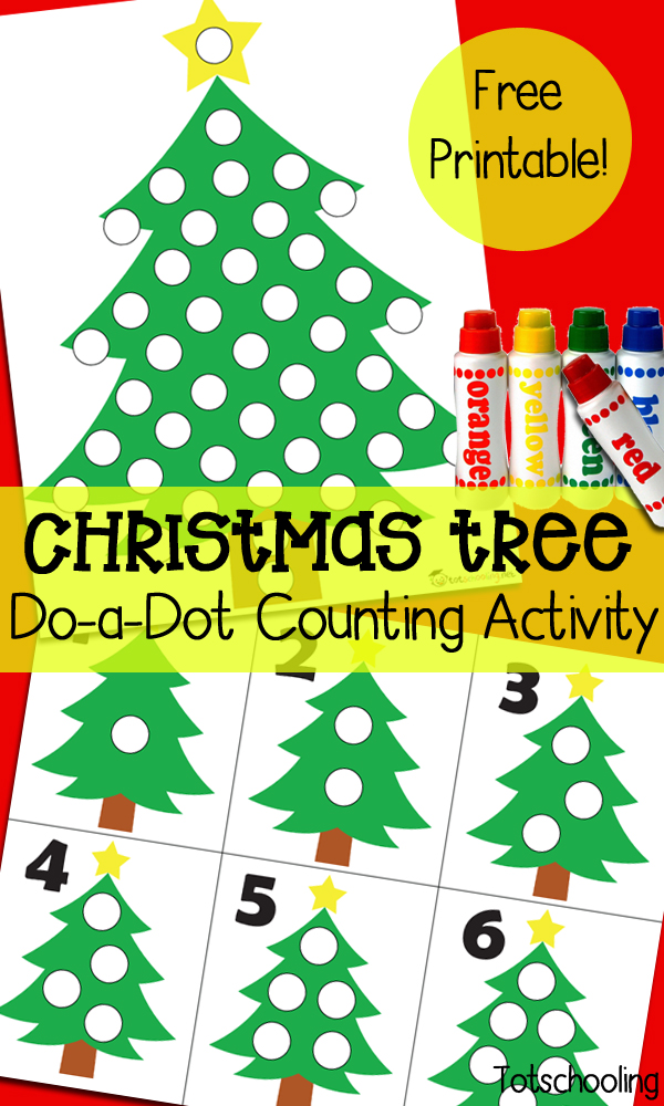 Christmas Tree Dot Marker Counting Activity