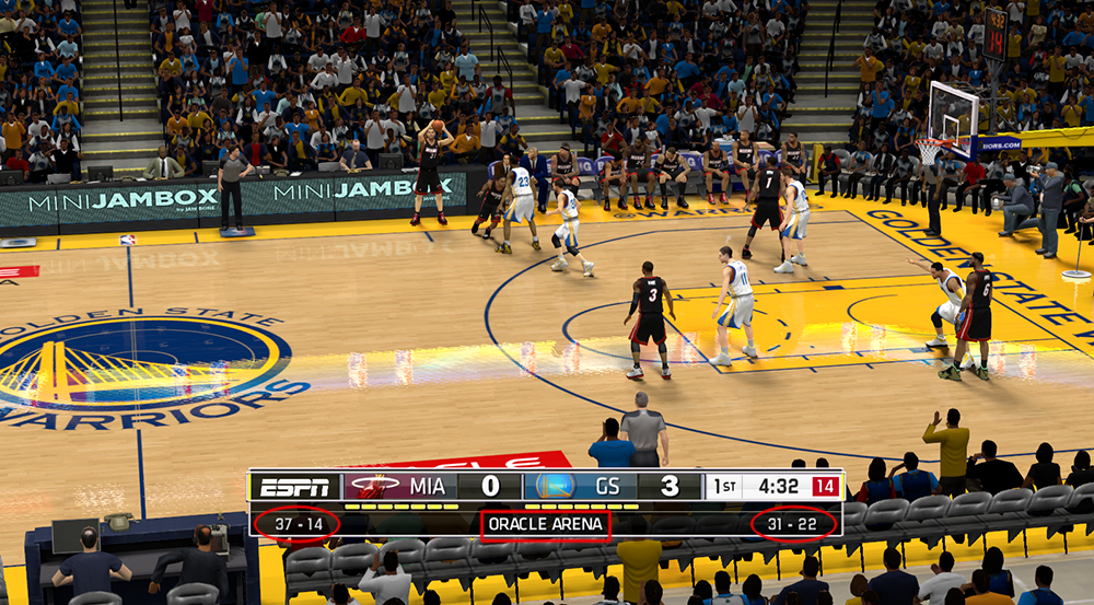 New NBA 2K14 Scoreboard ESPN