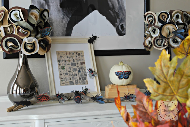 Halloween Insect Mantel by The Shabby Nest