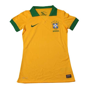 Ladies Jersey Brazil Home 2013