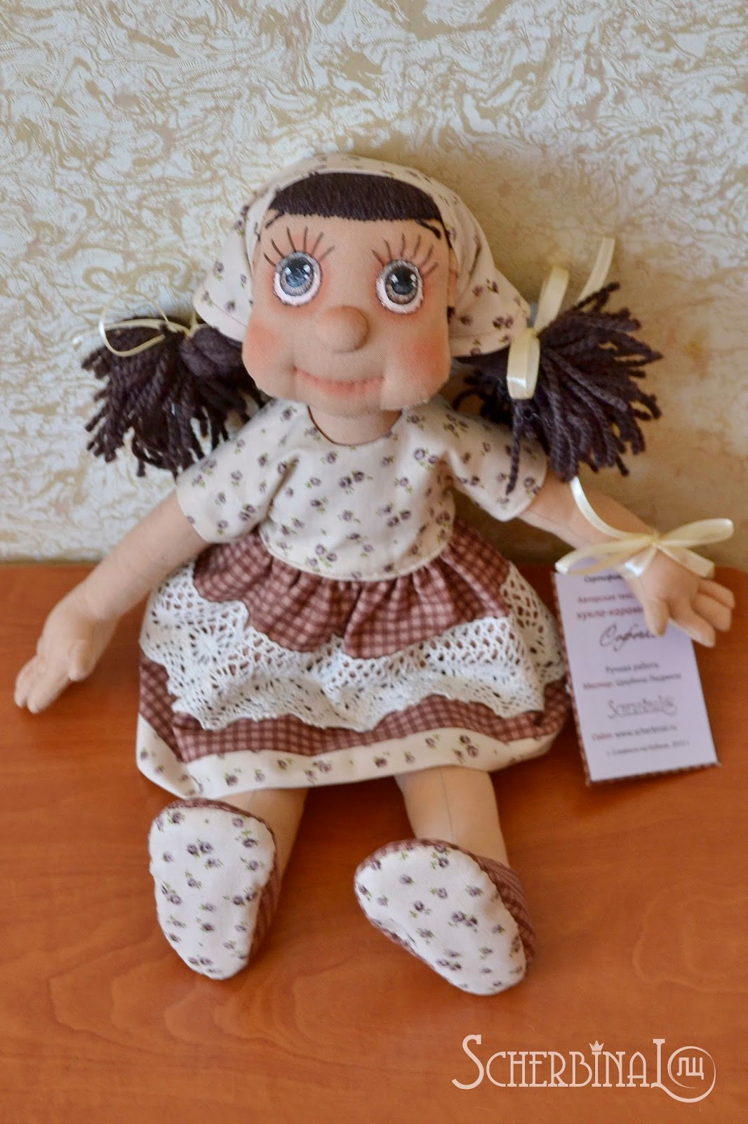 текстильная кукла карамелька Софочка