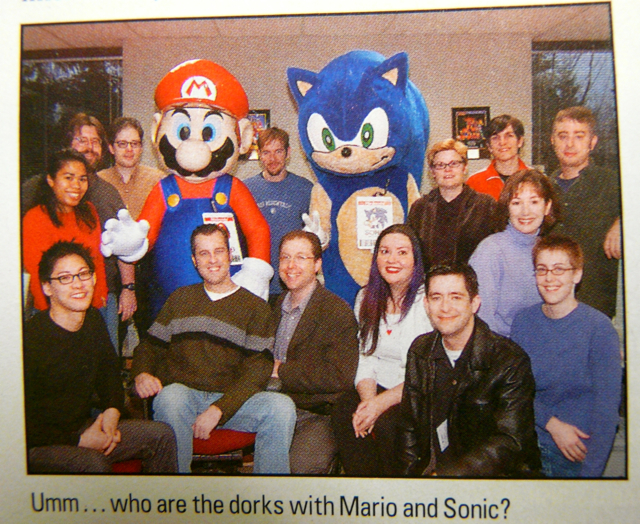 The NP Staff with Mario and Sonic