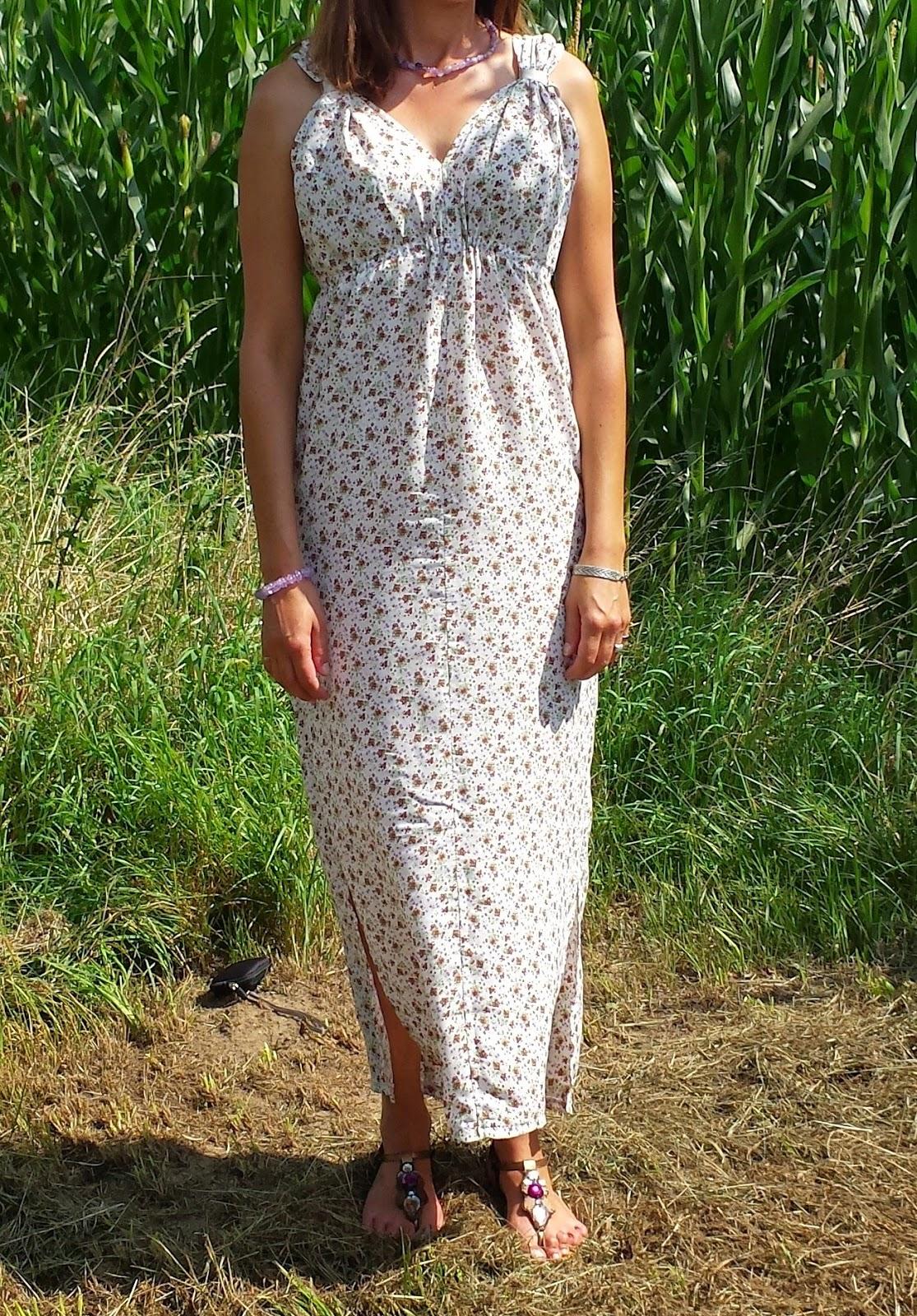 Patron de robe longue facile