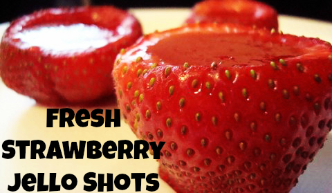 Fresh Strawberry Jello Shots