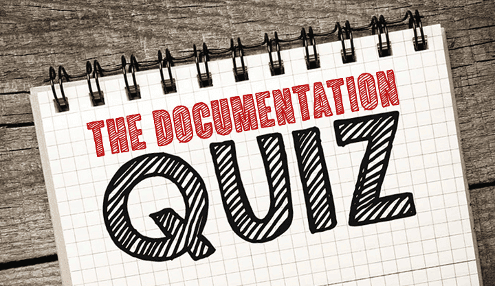 The Documentation Quiz