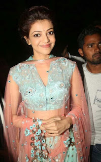 Kajal Agarwal Pictures in Lehenga Choli at Mugdha Art Studio 010