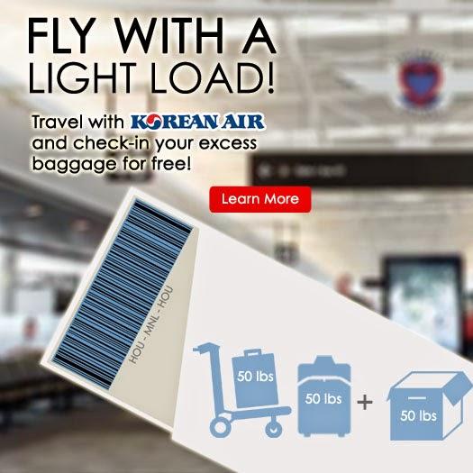 Mango Tours Korean Air Cheap Airfare and Extra Baggage Allowance