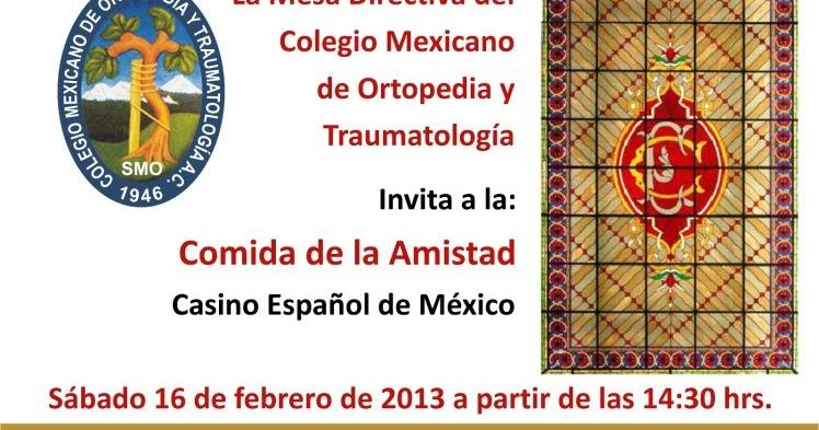 Colegio mexicano de ortopedia y traumatolog a cmo comida for W de porter ortopedia