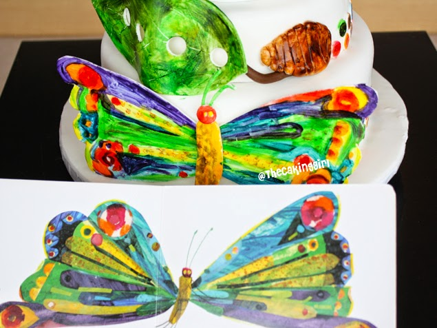 the very hungry caterpillar cake butterfly fondant