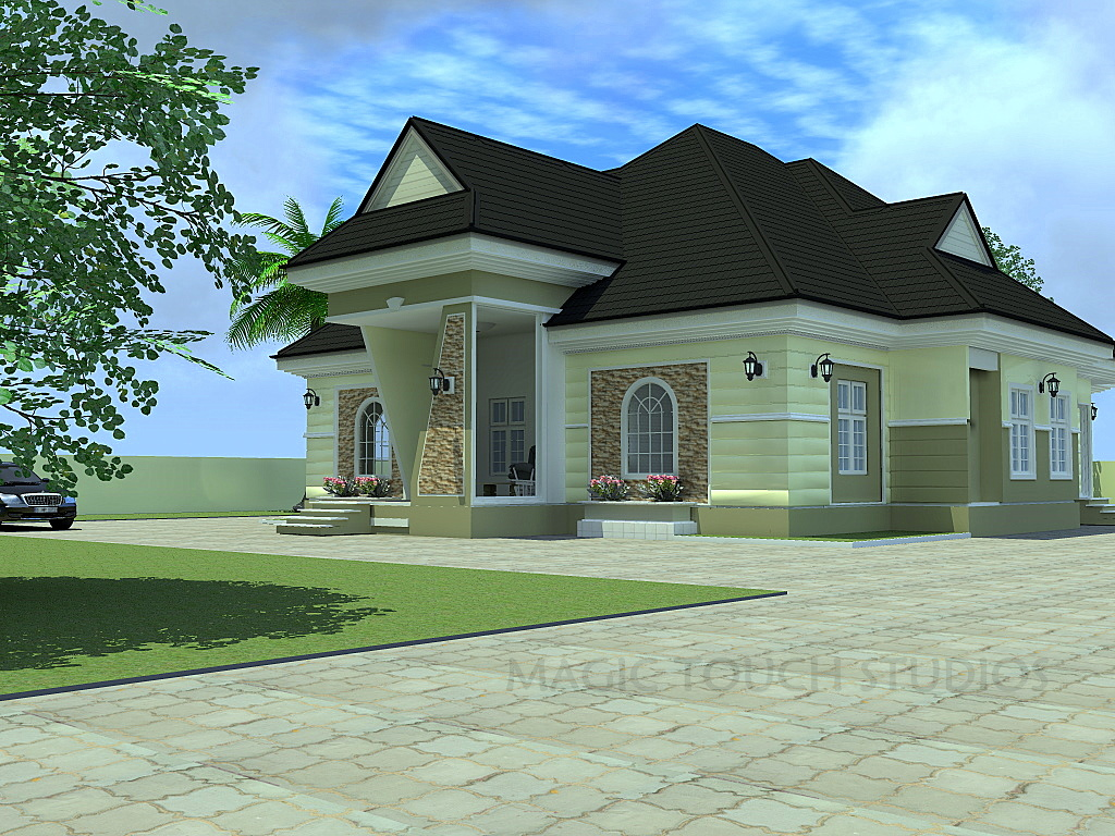 Residential homes and public designs 4 bedroom bungalow Four bedroom bungalow plan