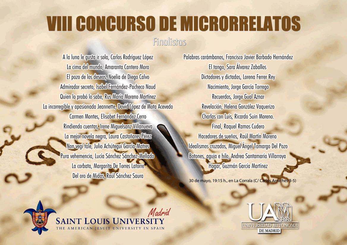 Concurso Microrrelatos UAM-St Louis 2014, Literaturas Hispánicas UAM