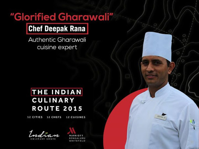 Indian Culinary Route Whitefield Marriott Bangalore, Chef Deepak Rana