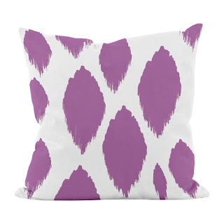 Abstract purple pillow