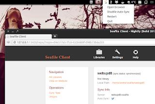 Seafile Linux client
