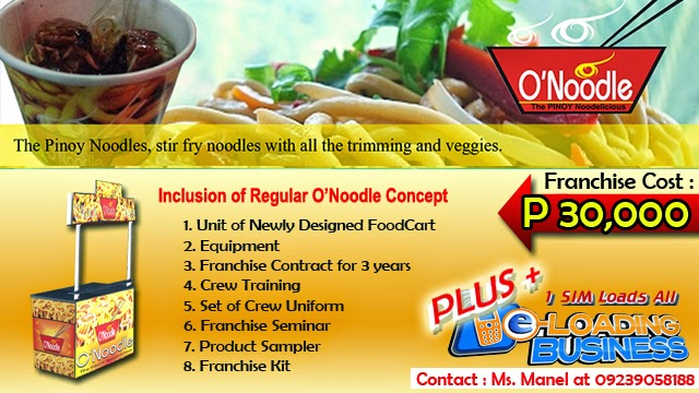 Foodcart For Franchise - A In Demand Dried Noodle Food Concept Offered in the Philippines.