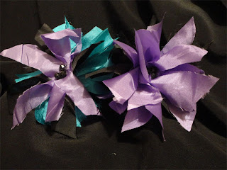 satin fabric flowers