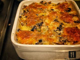 Cartofi si ciuperci, gratinat la cuptor