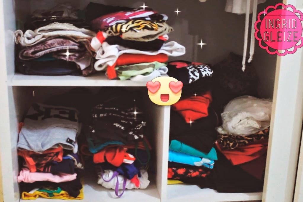 dicas para organizar o guarda roupa, otimizar espaço no guarda roupa, como arrumar as roupas, como dobrar as roupas
