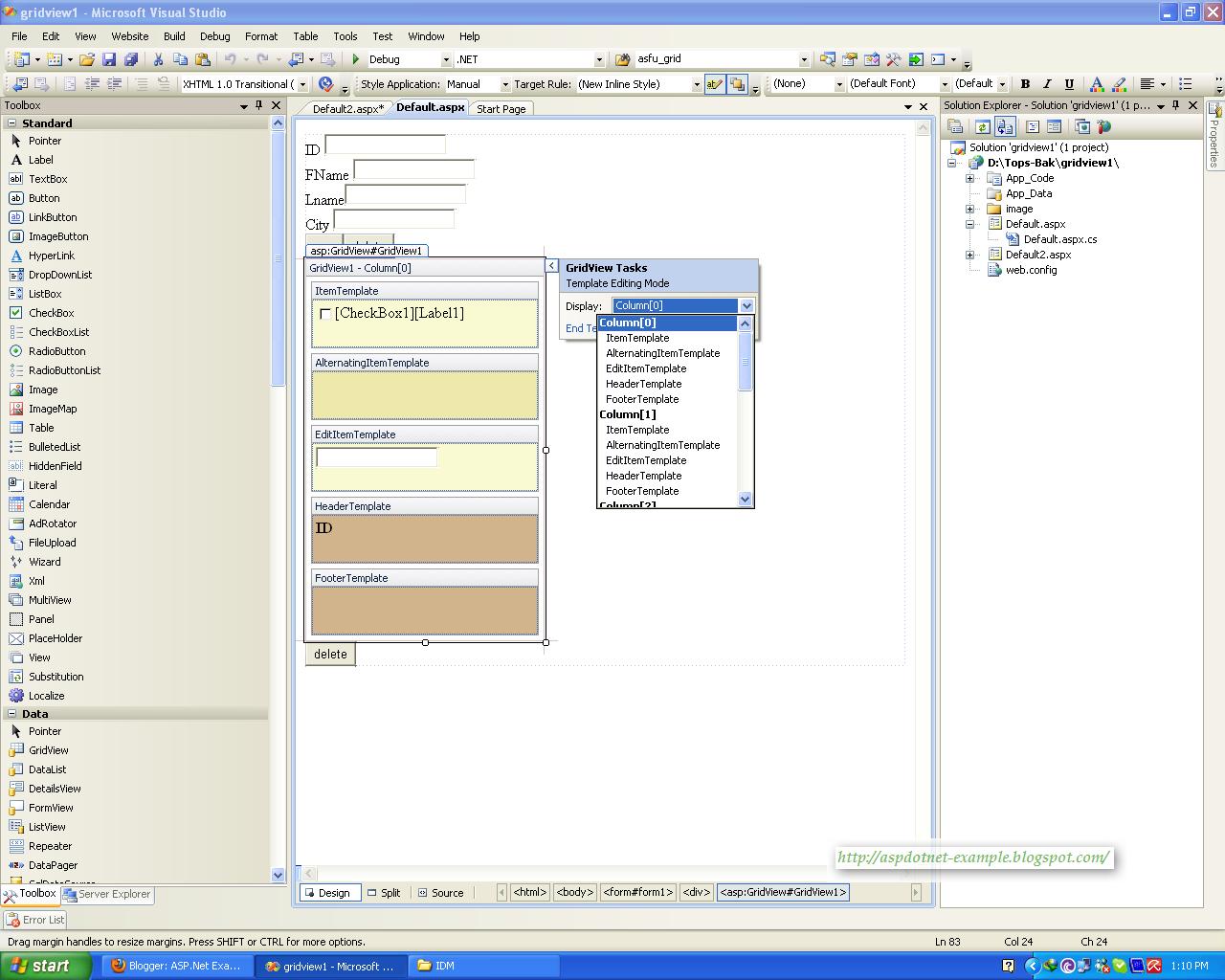 gridview control asp net: