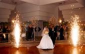 Fogos para casamento e aniversário.