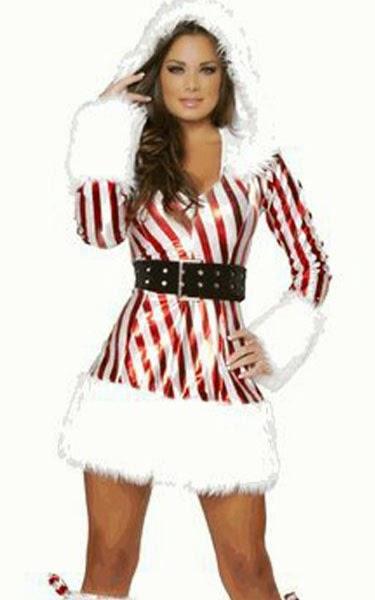 Valentine Metallic Zip Front Candy Cane Xmas Dress