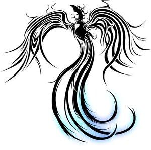 Imagens para tatuagem fenix para tatuagem for Fenix tribal tattoo