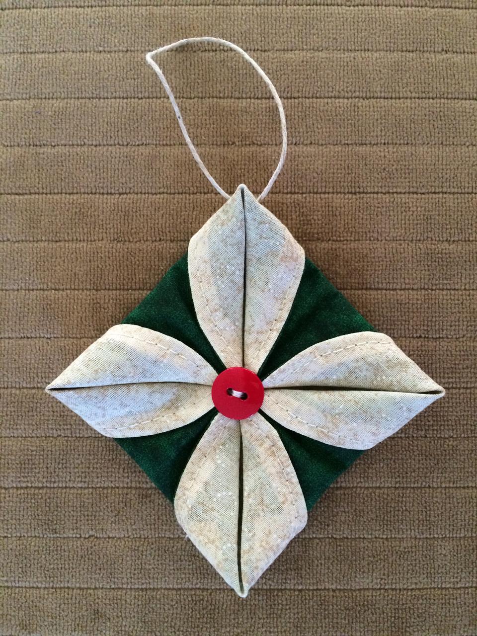 Fabric Ornaments Patterns : Corners of My Life: folded fabric ornament