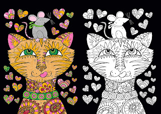 Beautiful Copycat Coloring: Pretty Pictures to Copy and Complete