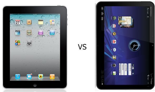 iPad 2 vs Xoom, iPad 2, Xoom