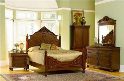 Bedroom Decorating Ideas Using Antique Furniture Set