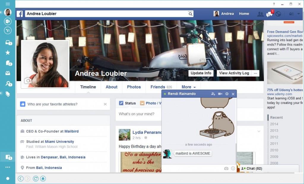 Mailbird Social Facebook