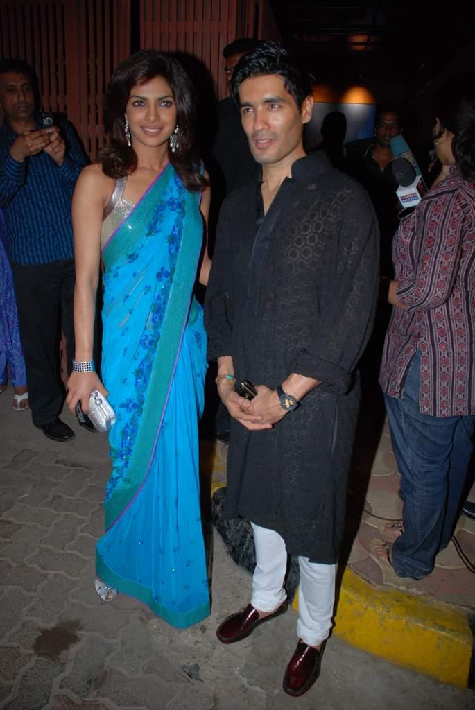 Priyanka Chopra in Beautiful Saree in Amrita's Wedding