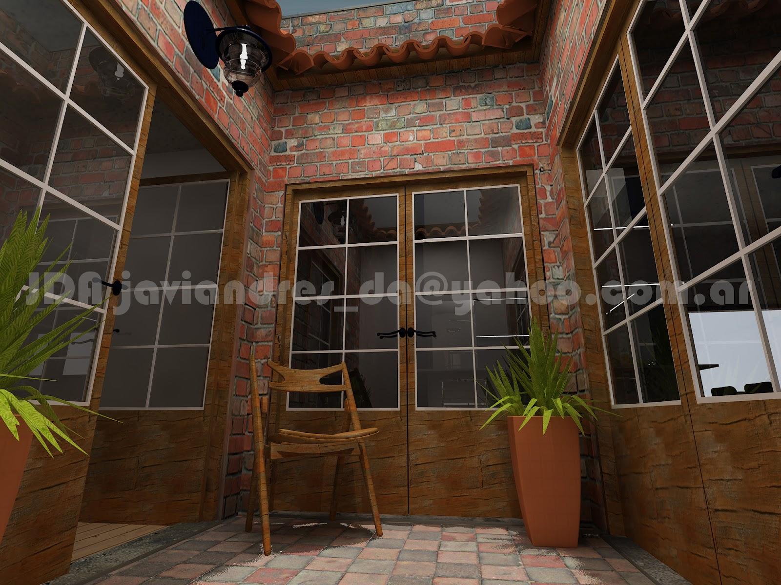 Arquitec maquetas remodelaci n 3d casa antigua buenos aires for Remodelacion de casas pequenas fotos