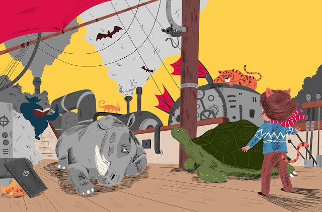 авиел басил, илюстрация, художник, гривесто дете-коте, детска книга