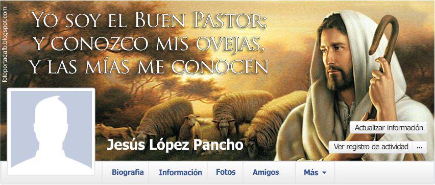 Portada para facebook con el tema de Jesucristo el Buen Pastor