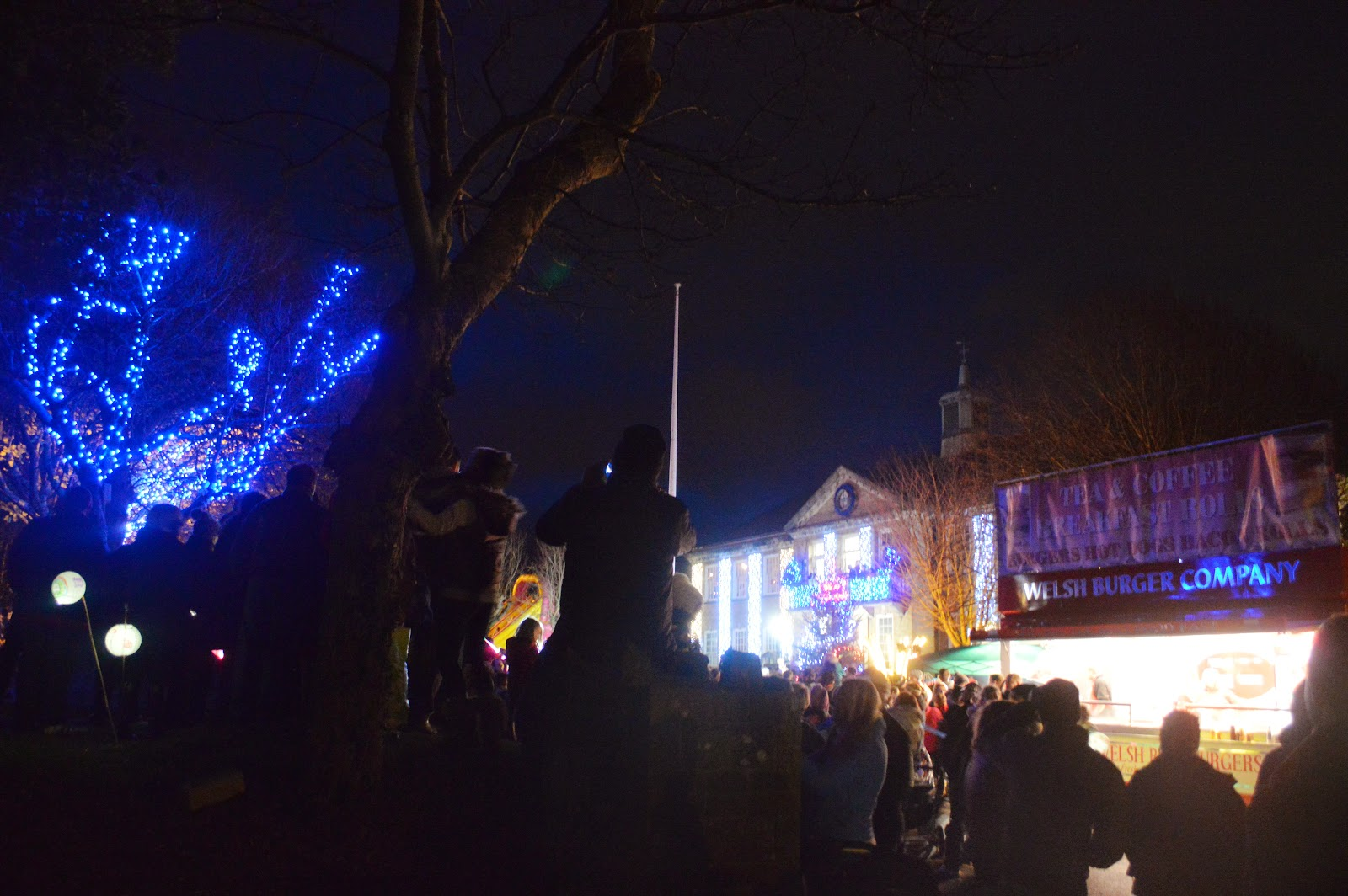 The lantern parade Christmas lights