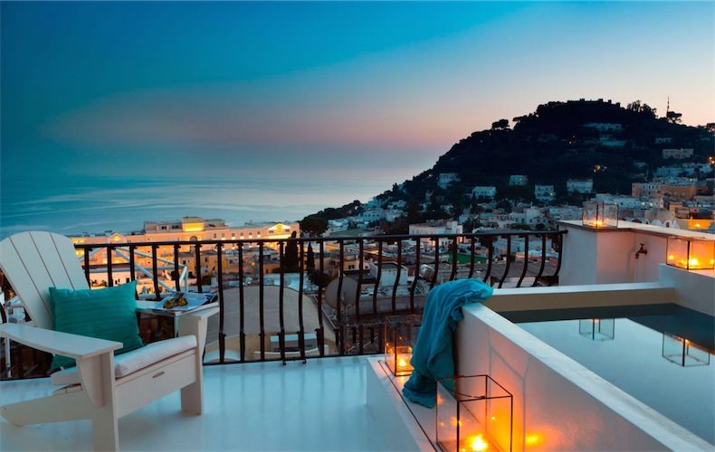 vistas terraza isla de Capri