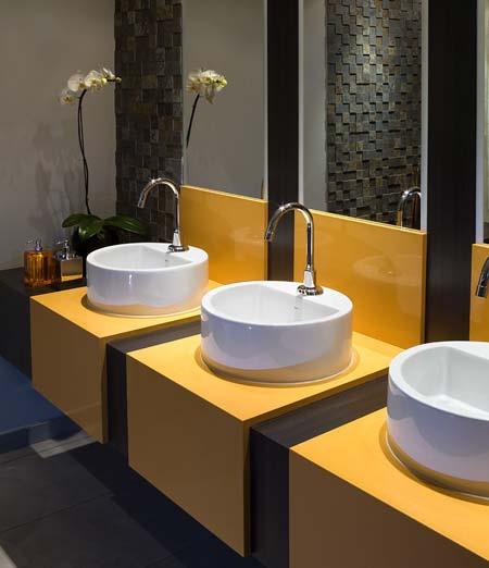 Território Casa Para lavar as mãos! -> Cuba Para Banheiro Amarela