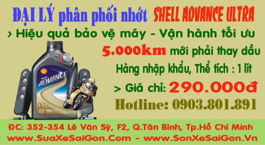 Đại lý phân phối dầu nhớt Shell Advance Ultra chính hiệu
