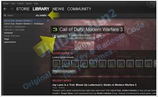 Cara Suntik steam game ori pada COD Modern Warfare 3