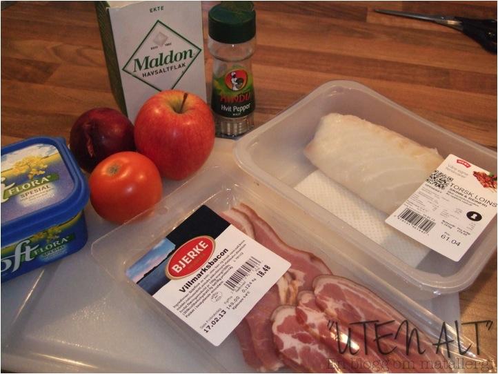 sprøstekt bacon til fisk