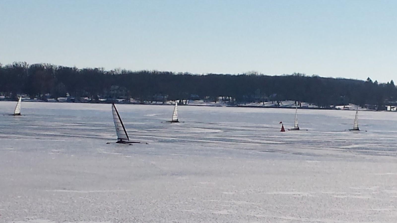 Delavan lake property ice boating season open on delavan lake for Lake delavan fishing
